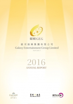 Galaxy Entertainment Group Limited - Environmental, Social and Governance content is included in Annual Report 2016
