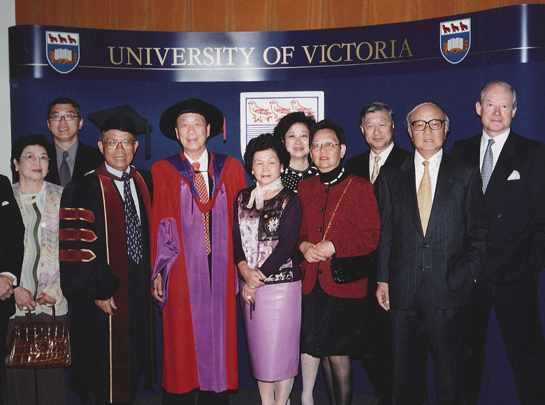 Awarded the degree of Doctor of Laws, honoris causa by the University of Victoria