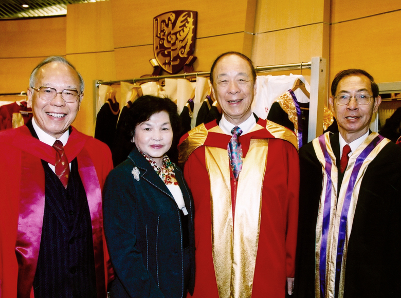 Awarded the degree of Doctor of Social Science, honoris causa by the Chinese University of Hong Kong