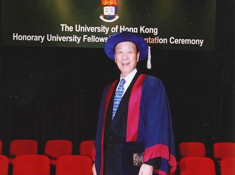 Awarded an Honorary University Fellowship by the University of Hong Kong