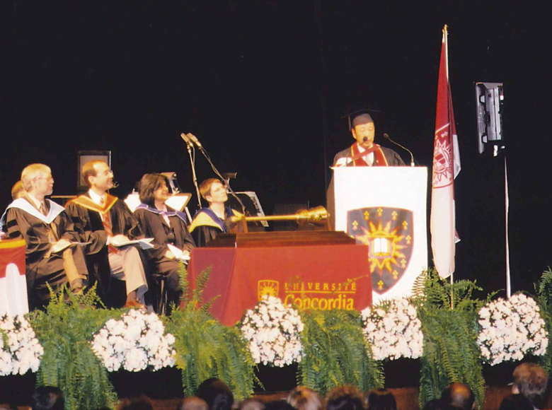 Awarded the degree of Honorary Doctor of Laws by Concordia University