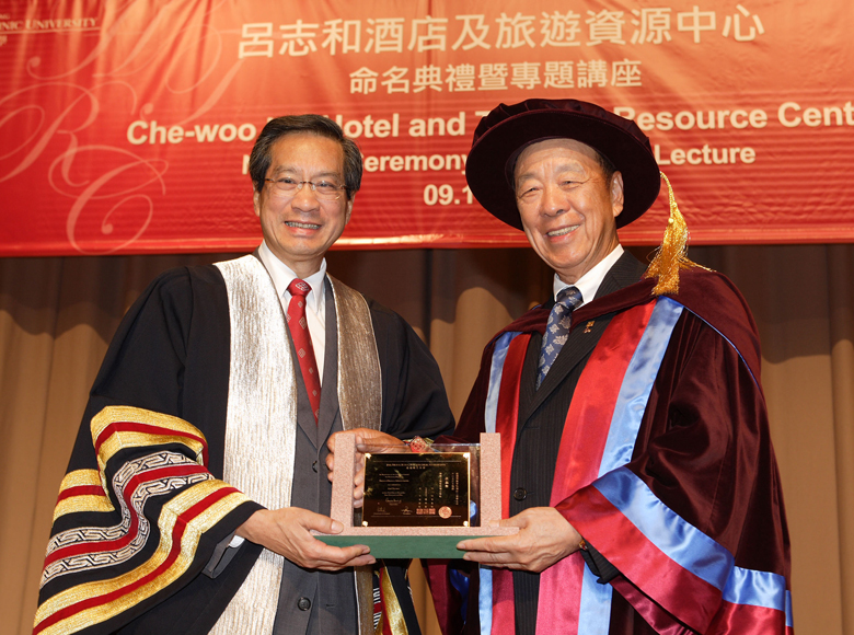 Awarded the degree of Doctor of Business Administration, honoris causa, by the Hong Kong Polytechnic University