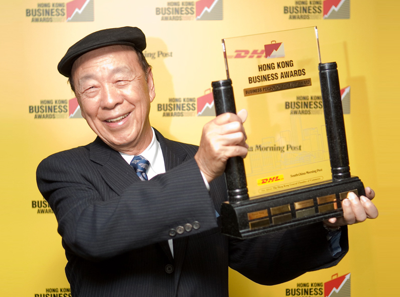 Honoured as the Business Person of the Year in DHL/SCMP Hong Kong Business Awards