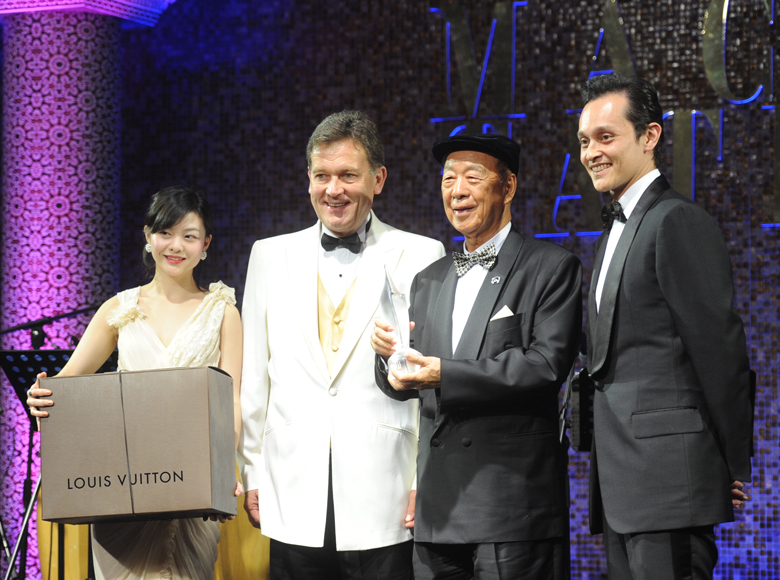 Presented the Diamond Award by Macau Tatler