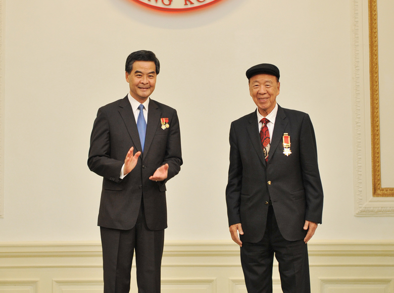 Awarded the Grand Bauhinia Medal by the HKSAR Government for his significant contribution to Hong Kong