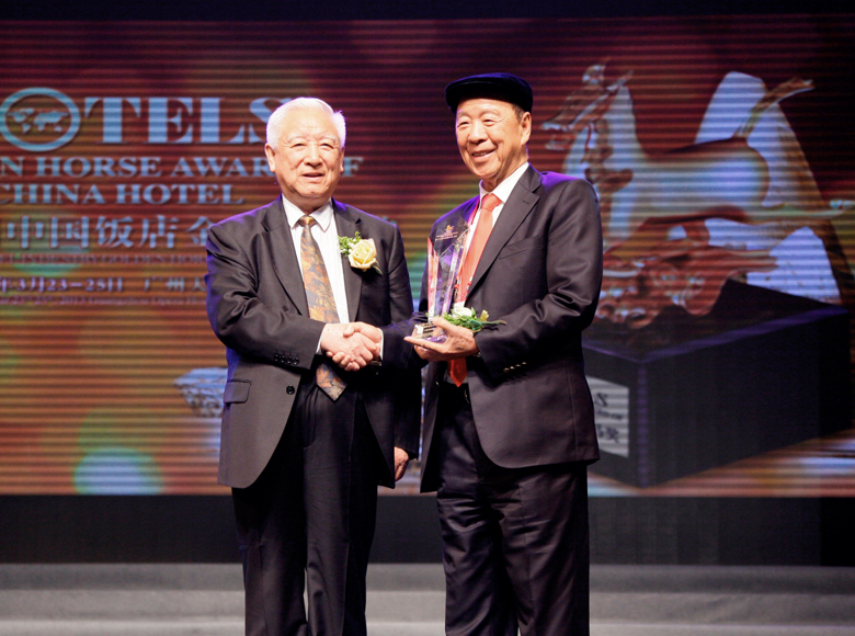 Received the Lifetime Achievement Award at the 13th China Hotel Golden Horse Award