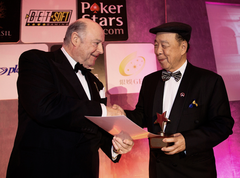 Presented the Outstanding Contribution Award at the International Gaming Awards