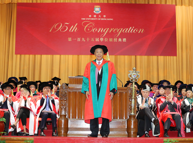 Conferred the degree of Doctor of Social Sciences, honoris causa, by the University of Hong Kong